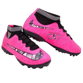 0fc908236a61a Chuteira Nike Mercurial Society Roxa - Chuteiras Rosa chiclete no ...