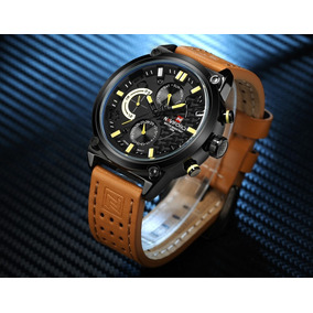 Relógio Masculino Luxo Original Naviforce Quartzo Env Gratis