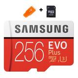 Cartao Samsung Micro Sdxc Evo Plus 4k 100mb/s 256gb Lacrado