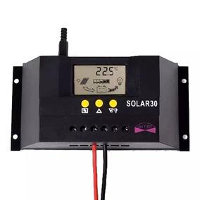 Controlador De Carga Solar Pwm 30a Carregador 12 V 24 V