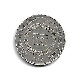 Moeda Brasil 1000 Réis 1866