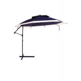Ombrellone Suspenso Provence - Duplo Deck Manivela - Azul c87c69fe16
