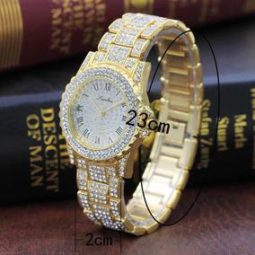 4d8e2520ed1 Relogio Cravejado Zirconia - Relógios De Pulso no Mercado Livre Brasil