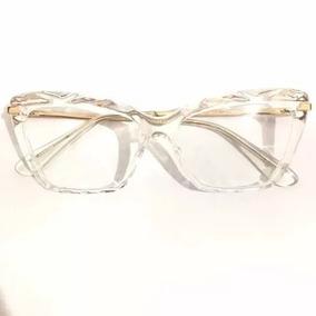 9ba029f7c8e8b Armação Oculos Grau Feminino Gatinho Dg5025 Transparente