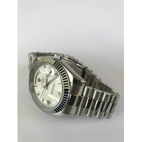 Reloj Rolex Daydate Presidente Blanco Plata Automatico R22