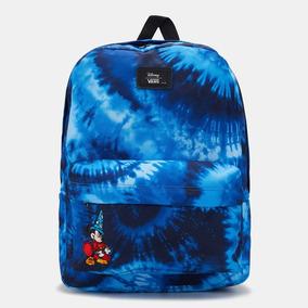Mochila Vans Old Skool Mickey Disney Classic Azul Tie Dye 869bc8f5e62