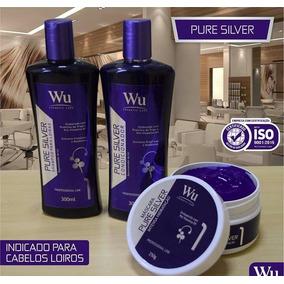 Kit Pure Silver Loiras Platinados Blond Wu Cosmeticos 3 Prod