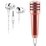 Mini Micrófono Audífonos Jack 3.5 Karaoke Portatil Oferta