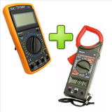 Multimetro Digital C/ Capacimetro + Alicate Amperímetro 266