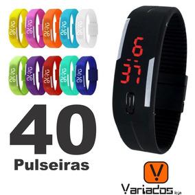 Kit/40 Relógio Pulseira Digital Led Sport Atacado Oferta !!