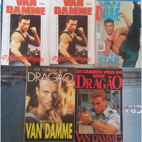 Lote 5 Revistas Livros Com Jean Claude Van Damme Usadas