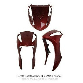 Bico Frontal Biz125 2014 Vermelho S/adesivo + Brinde