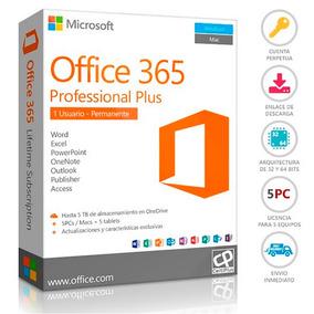 Office 365 Licencia Permanente Para 5 Pc