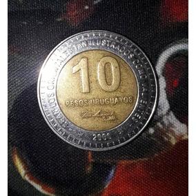 Moeda Comemorativa 10 Pesos Uruguaios *2000*