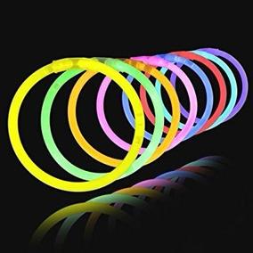 100 Pulseras Neon Fiesta Dj Cyalume Luminosas Lente Peluca