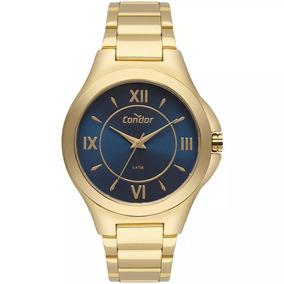 d9c05312523 Relogio Dourado Fundo Azul Feminino - Relógios De Pulso no Mercado ...