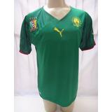 4eb2f149b3417 Camisa De Futebol Seleção De Camarões Modelo Copa 2010 Puma