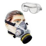 Mascara Respirador Facial Pintura Gases Veneno Formol Óculos