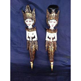 Par De Esculturas Mascaras Egípcias Deusas
