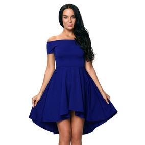Vestidos de graduacion azul cortos