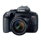Cámara Canon Eos Rebel T7i Ef 18-55mm 24.2 Mp + 16 Gb