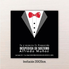 24 Pz - Invitaciones - Despedida De Solteros // 20x20cm.
