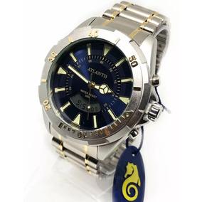 Relógio Masculino Atlântis Original Aço Aprova D