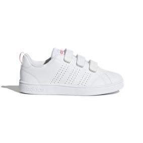 Tenis Advantage Clean adidas Niña Blanco/rosa Talla 18-21 Cl