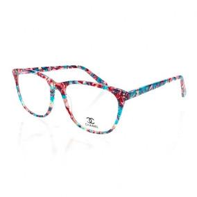 Armação Oculos De Grau Para Grau Ch3582 Emilly Bbb Acetato ebbac84971