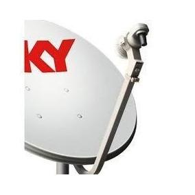 1 Antena Ku 60cm 1 Lnb Duplo +1 Kit Cabo Rg59 De 17 Metros