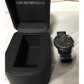 Relógio Emporio Armani Original Tela Trincada Sem Bateria