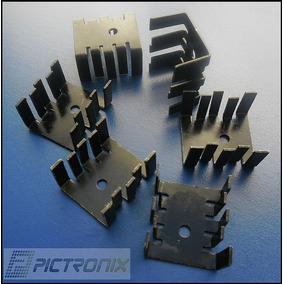 50 Peças - Dissipador Alumínio 25mm X 28mm X 15mm T0220
