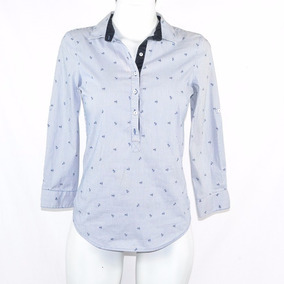 ZaraCamisa Azul Anclas Xs Msrp $550