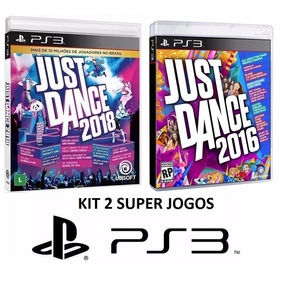 Just Dance 2018 + 2016 - Jogo P/ Ps3 Original - Midia Fisica