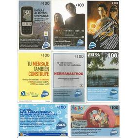 Uruguai 8 Cartões Telefônicos Para Celular Diferentes Lote 2