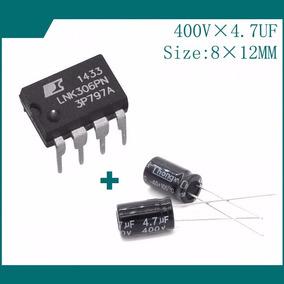 Kit 01 Lnk306pn + 02 Capacitores 4,7uf X 400v