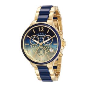 Relógio Feminino Mondaide 76688lpmvde1 Promo Verão