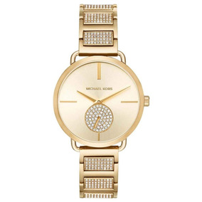 Michael Kors - Reloj Mk3852 Portia Analog Gold Dial Mujer c60dfee5e46b