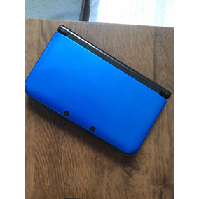 Nintendo 3ds Xl Azul Cartão 4gb Bivolt Desbloq. E Case Azul