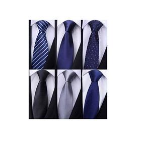 Weishang Pack De 6 Hombres Clasico Seda Corbata Tejida