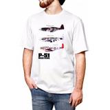 Camiseta P-51 Mustang Aeromodelismo Branca Camisa Avião