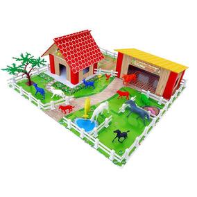 Fazendinha Junges Brinquedo Com 60 Peças Para Montar 725