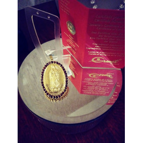 Medalla Virgen De Guadalupe Con Granate Checo