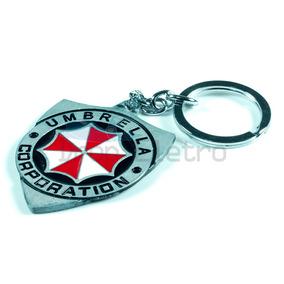 Chaveiro Resident Evil Brasão Umbrella Corporation De Metal