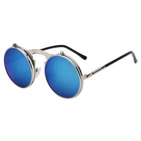 82e02e4c373ac Óculos De Sol Espelhado Vintage Retro Uv400 + - Óculos no Mercado ...