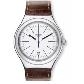 Reloj Swatch Appia Silver Dial Brown Hombre Mod Yws401