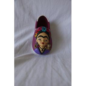 Alpargata Frida Kahlo Cerámica Pintada A Mano.
