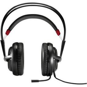 Auriculares Hp Omen Gamer - Negro Con Rojo