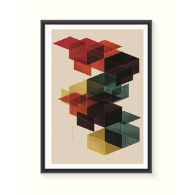 Pôster Abstrato 2 - Médio