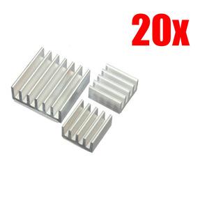 20x Dissipador Calor Raspberry Pi 2 Pi 3 C/ Adesivo Termico